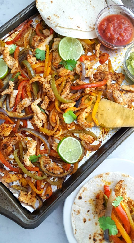Rainbow Peppers Sheet Pan Chicken Fajitas