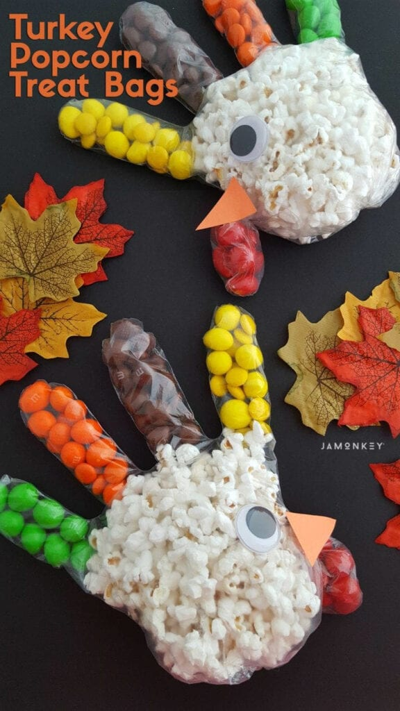 Turkey Popcorn Treat Bags