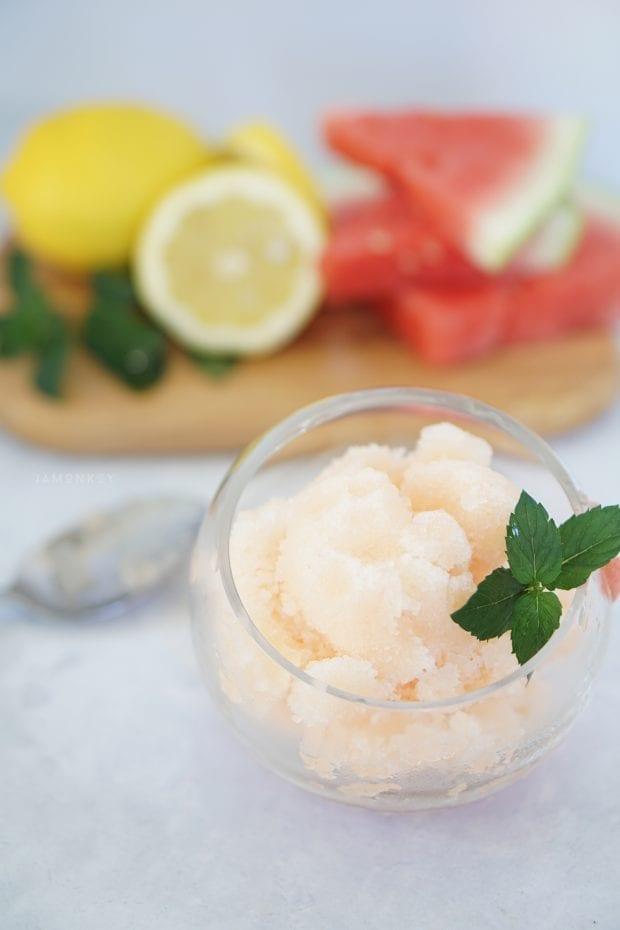 Watermelon Mint Lemonade Sorbet