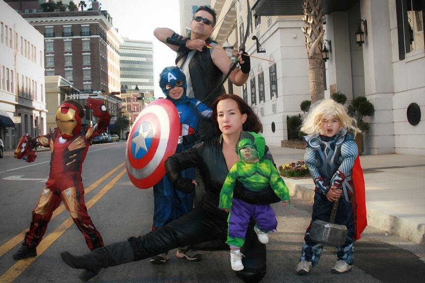 Marvel Avengers Family Costume