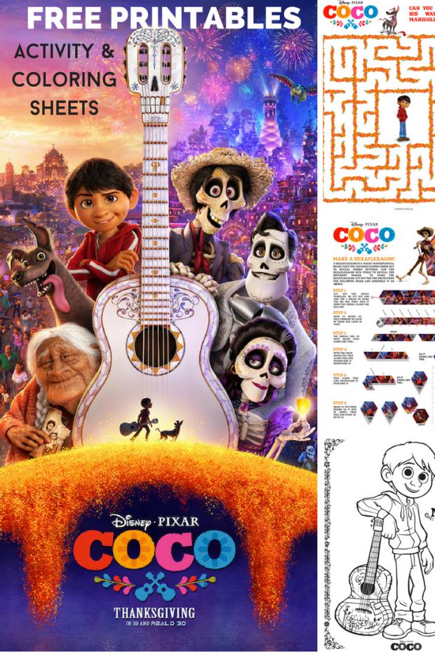 Disney Pixar Coco Printable Activity