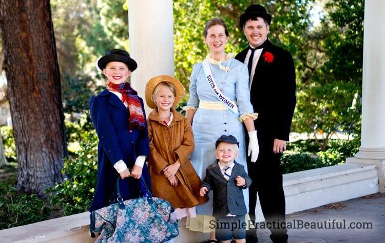 Mary Poppins Family Costume