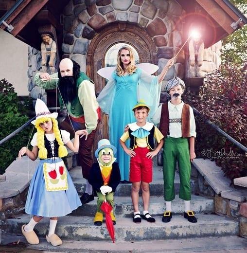 pinocchio family costume