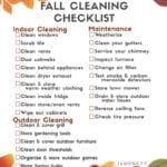 Fall Cleaning Checklist – Free Printable