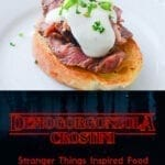 Demogorgonzola Crostini - Stranger Things Inspired Food