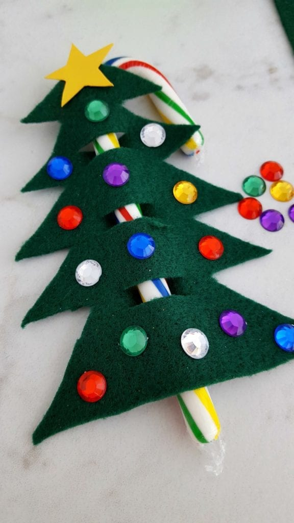 Candy Cane Christmas Tree Ornament/Gift Topper | JaMonkey