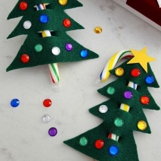 Candy Cane Christmas Tree Ornament/Gift Topper