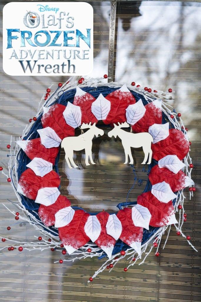 DIY Olaf\'s Frozen Adventure Wreath   JaMonkey