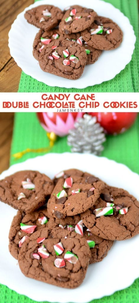 Candy Cance Double Chocolate Chip Cookies