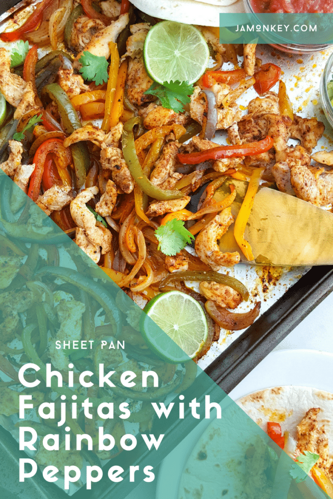 Sheet Pan Chicken Fajitas with Rainbow Peppers