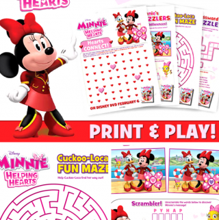 Minnie: Helping Hands Activity Sheets – Win a Copy