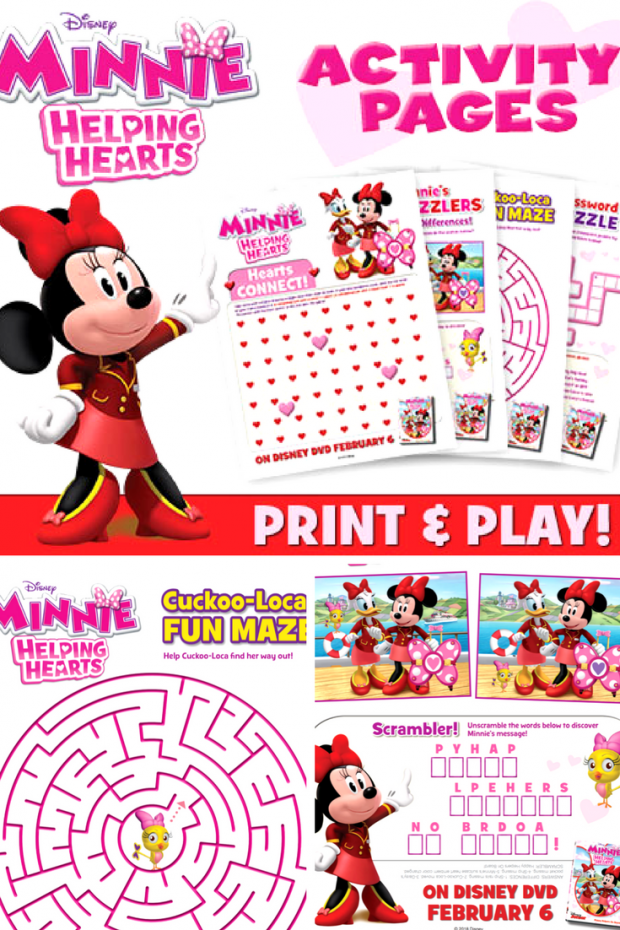 Minnie Helping Hands Activity Sheets