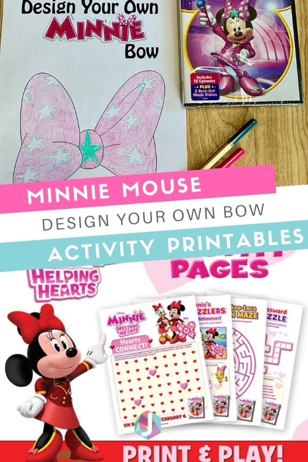 Minnie Mouse Design your own bow and activity printables