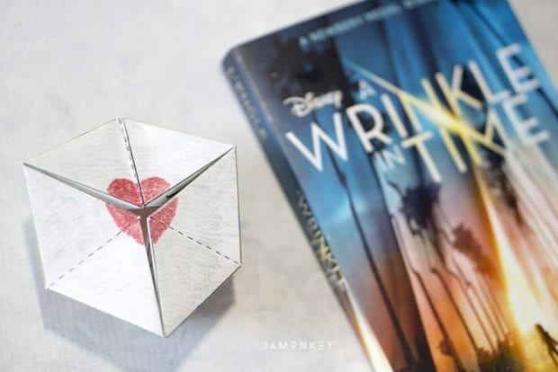A Wrinkle in Time Kaleidocycle Flextangle and Book
