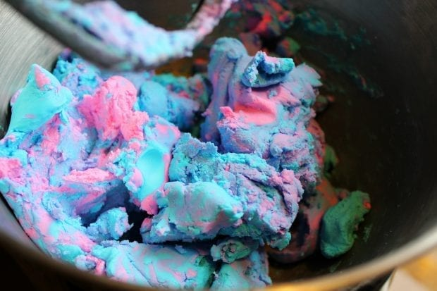 cotton candy edible play dough