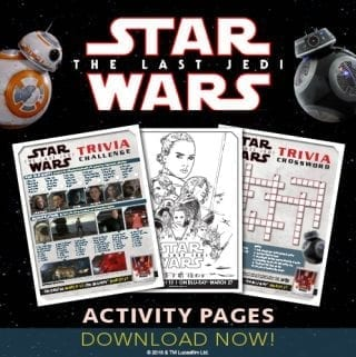 Star Wars: The Last Jedi Activity Sheets – Win a Copy
