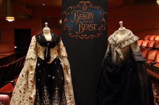 Beauty and the Beast costumes on the Disney Dream