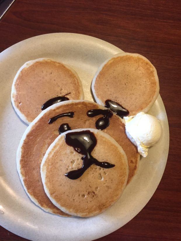 Bear Pancakes in Gatlinburg