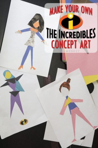 Create a Super - Make Your Own Pixar Incredibles Concept Art