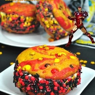 Iron Man Cookie Ice Cream Sandwich