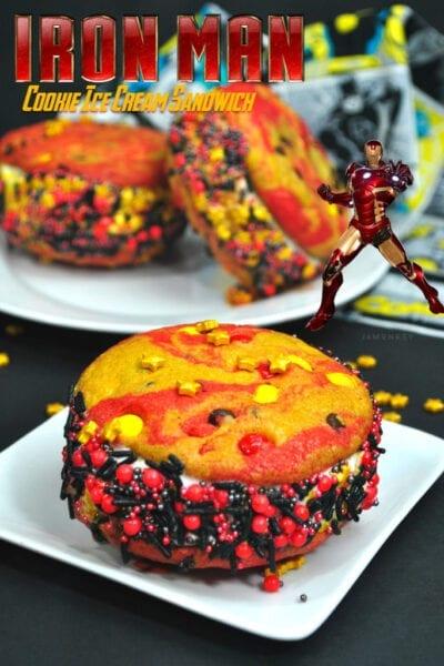 Iron Man Cookie Ice Cream Sandwich
