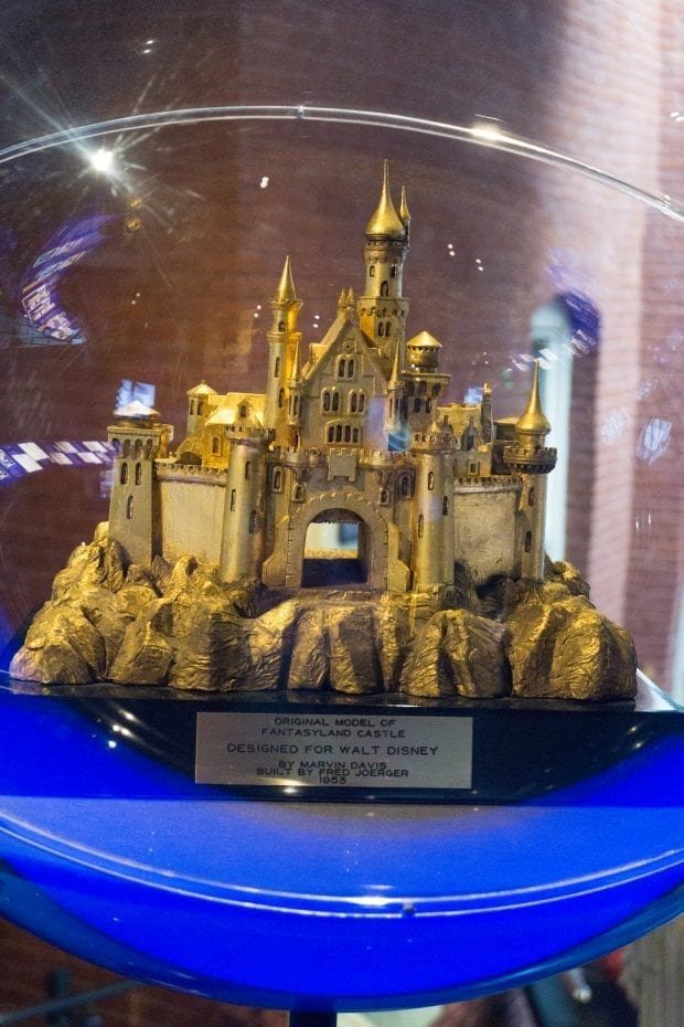 First model of Fantasyland castle