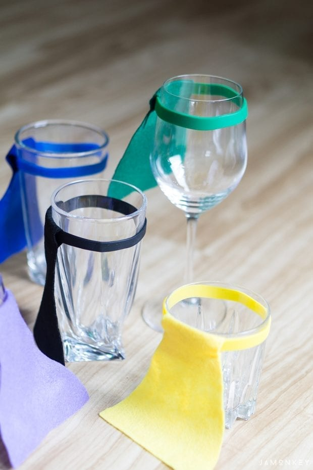 DIY Cape Drink Markers