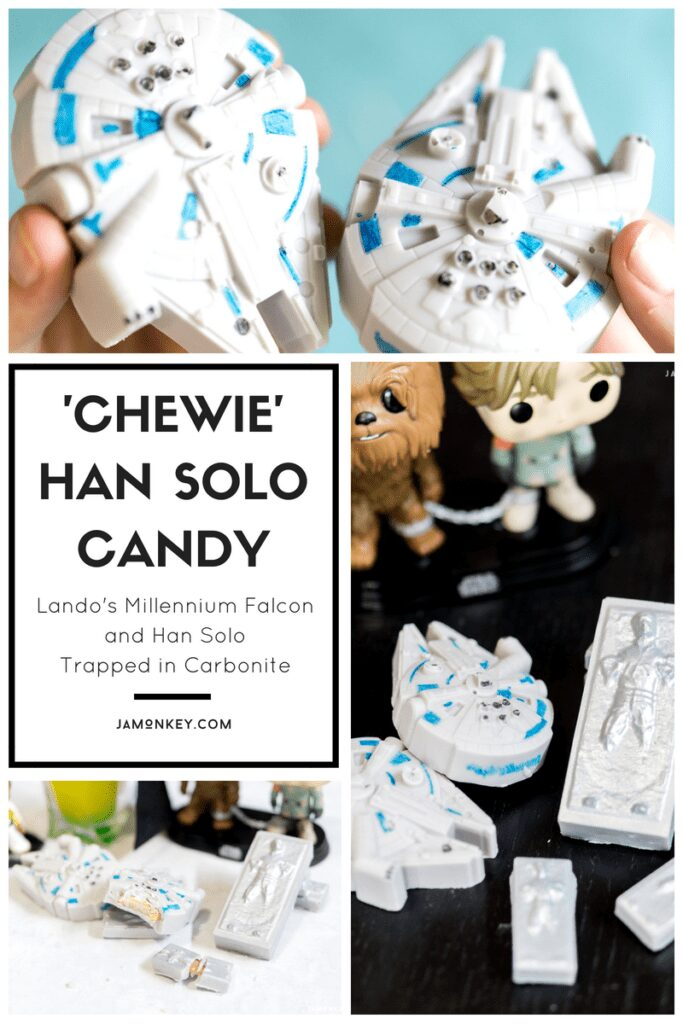 Chewy Han Solo Candy - Lando's Millennium Falcon and Han Solo Trapped in Carbonite