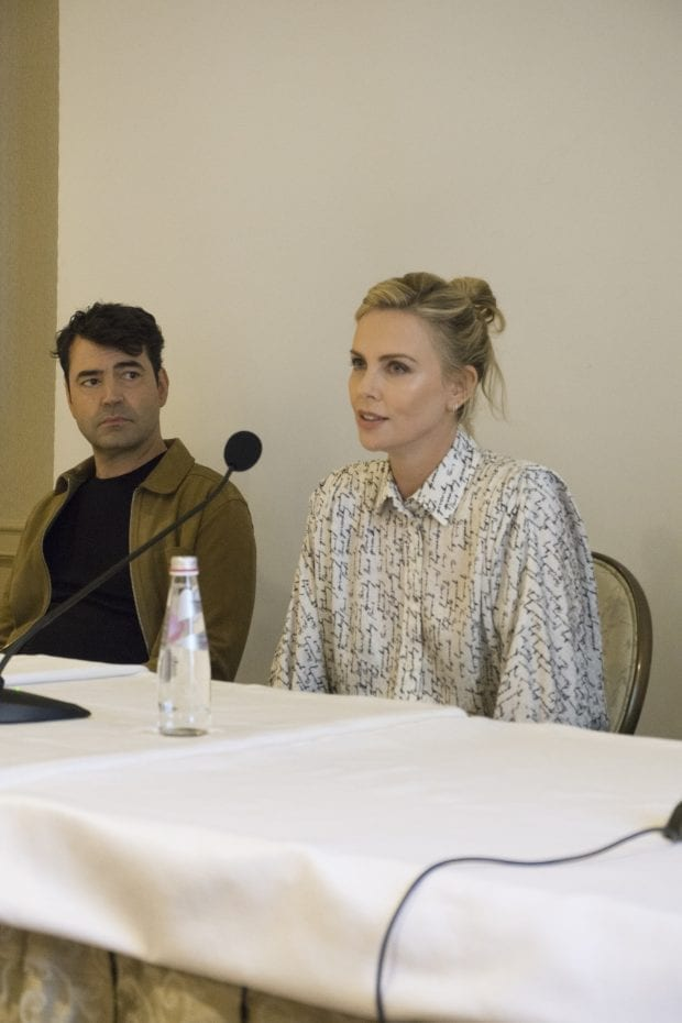 Charlize Theron Press Junket for Tully