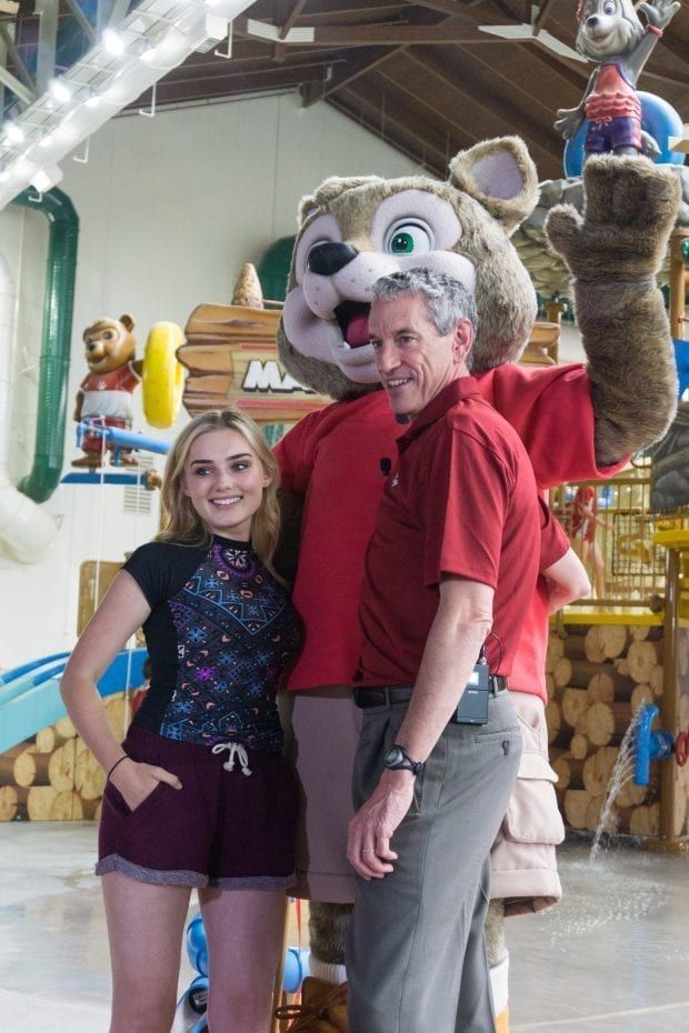 Meg Donnelly and Murray Hennessy at Great Wolf Lodge Georgia