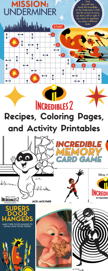 Incredibles 2 Recipes Coloring