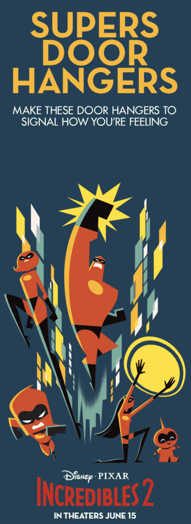 Incredibles 2 Door Hangers