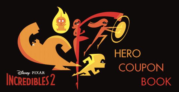 Incredibles 2 Hero Coupon Book