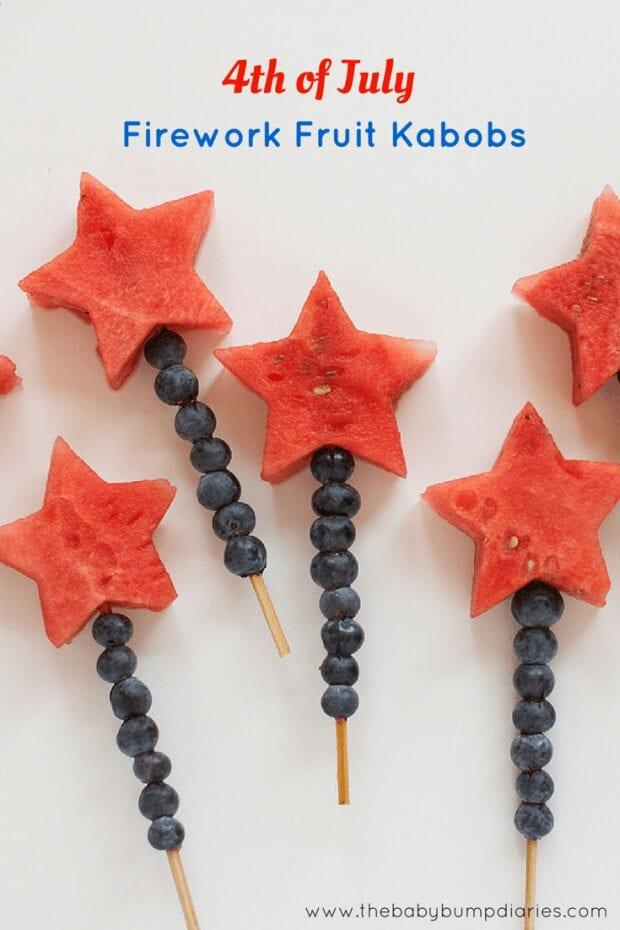 Firework Fruit Kabobs