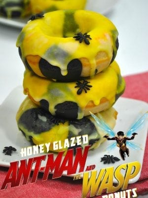 Honey Glazed Ant-Man and The Wasp Donuts