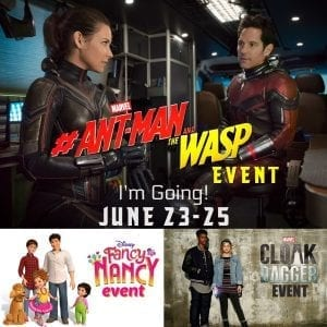 Follow the #AntManandTheWaspEvent