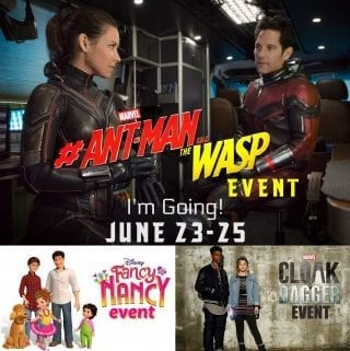 Follow Along for the Marvel Ant-Man and The Wasp Event