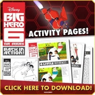 Big Hero 6 Series Printables – Win a Copy