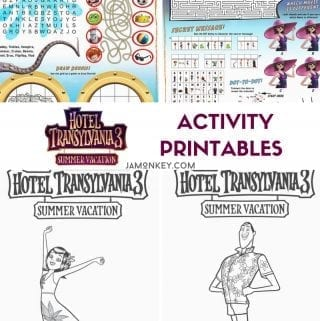 Hotel Transylvania 3: Summer Vacation Activity Printables