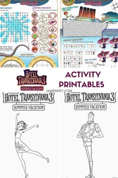 Hotel Transylvania 3 Printables