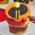 Incredibles Themed Cupcakes with Candy Topper