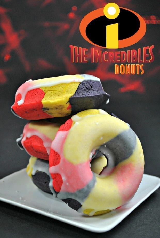 Incredibles Themed Glazed Donuts