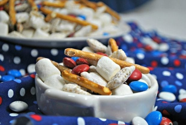 Patriotic Smore Chex Mix