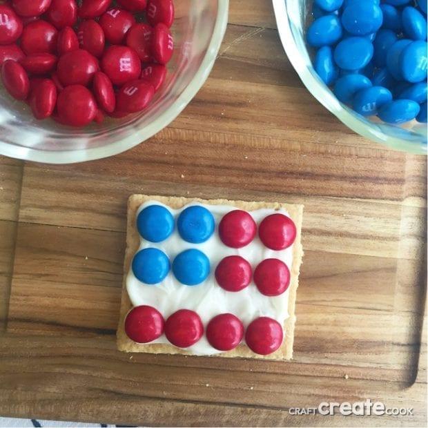 Patriotic Graham Crackers