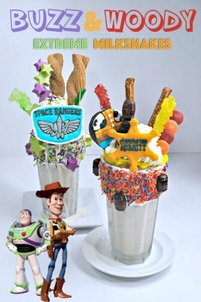 Buzz Lightyear and Woody Extreme Milkshakes