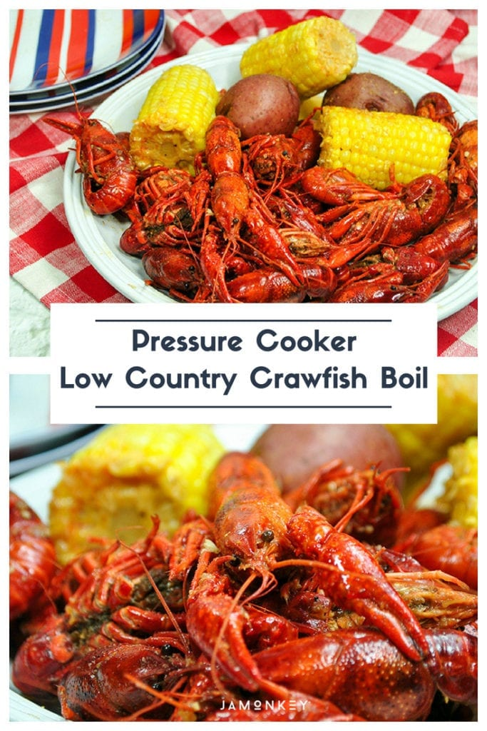 Make a Low Country Crawfish Boil right in your Instant Pot Pressure Cooker!