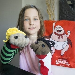 Captain Underpants Sock Puppets
