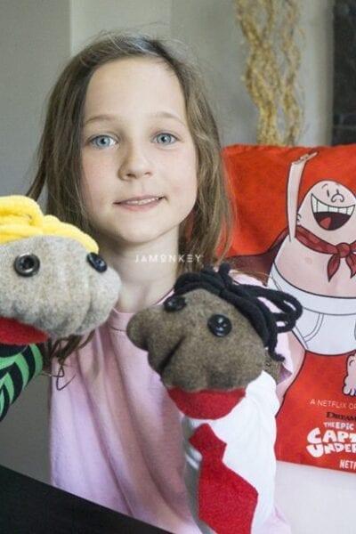Captain Underpants Sock Puppets