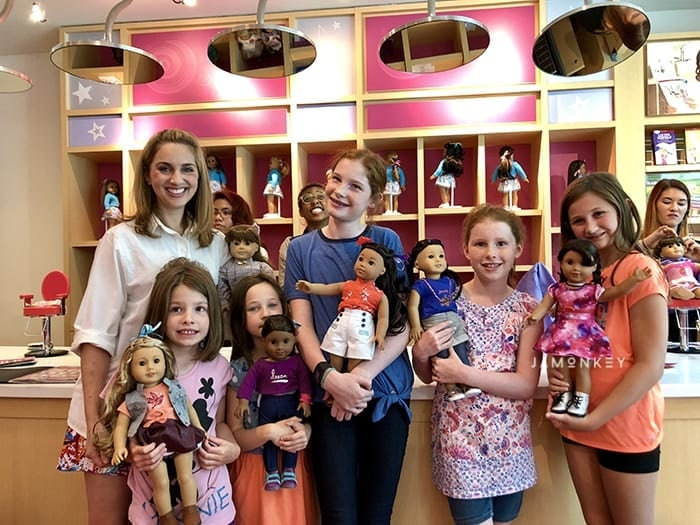 Visiting the American Girl Doll Salon and Bistro