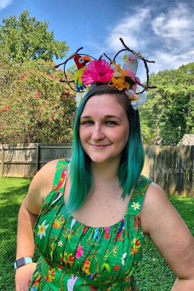 Enchanted Tiki Room Dress and Ears